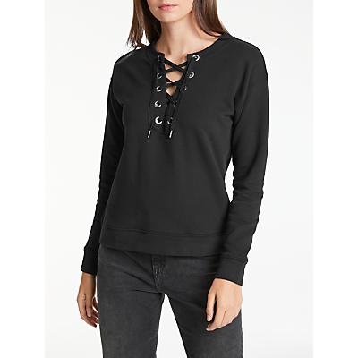 Lee Long Sleeve Drawcord Sweatshirt, Black