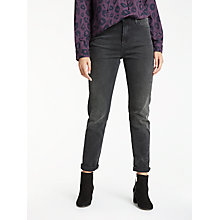 Buy Lee Mom High Waist Straight Jeans, Punk Deluxe Online at johnlewis.com