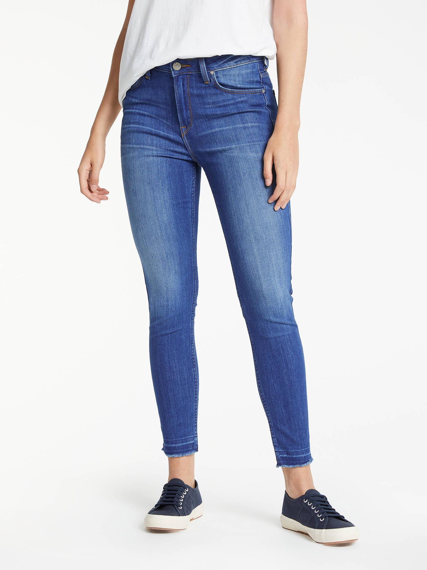 53bcdd34 Buy Lee Scarlett High Waist Skinny Jeans, Worn Out Misfit, W27/L31 Online  ...