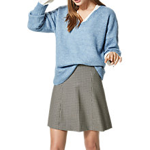 Buy Selected Femme Livana V-Neckline Knit Jumper, Faded Denim Melange Online at johnlewis.com