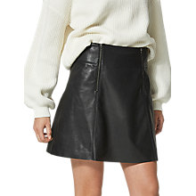 Buy Selected Femme Bonnie Leather Skirt, Black Online at johnlewis.com