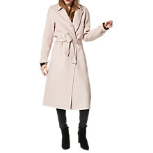 Buy Selected Femme Tammi Long Coat, Sepia Rose Online at johnlewis.com