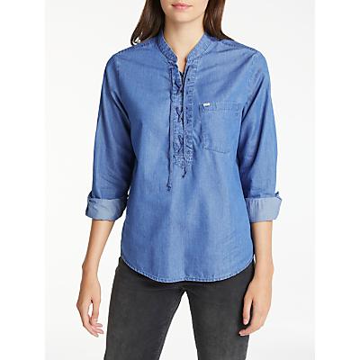 Lee Long Sleeve Drawcord Shirt, Indigo