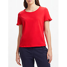 Buy Collection WEEKEND by John Lewis Pure Cotton Frill Sleeve T-Shirt Online at johnlewis.com