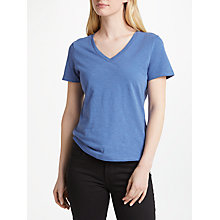 Buy John Lewis V-Neck Short Sleeve Cotton Slub T-Shirt Online at johnlewis.com