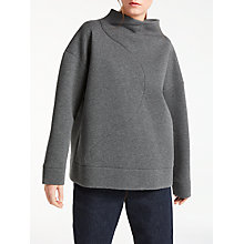 Buy Kin by John Lewis Funnel Neck Sweatshirt, Grey Online at johnlewis.com