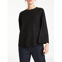 Buy Kin by John Lewis Kimono Sleeve Crew Neck Jumper, Black Online at johnlewis.com