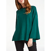 Buy Kin by John Lewis Kimono Sleeve Crew Neck Jumper, Green Online at johnlewis.com