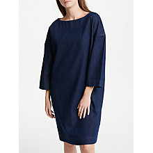 Buy Kin by John Lewis Denim Boat Neck Tunic Dress, Blue Online at johnlewis.com