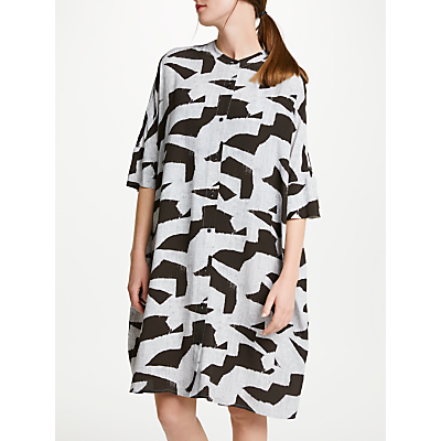 Kin by John Lewis Block Print Dress, Multi