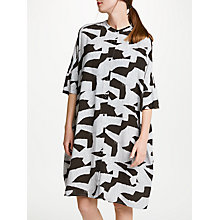 Buy Kin by John Lewis Denim Block Print Dress, Multi Online at johnlewis.com