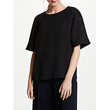 Buy Kin by John Lewis Snap Sleeve Shell Top, Black Online at johnlewis.com