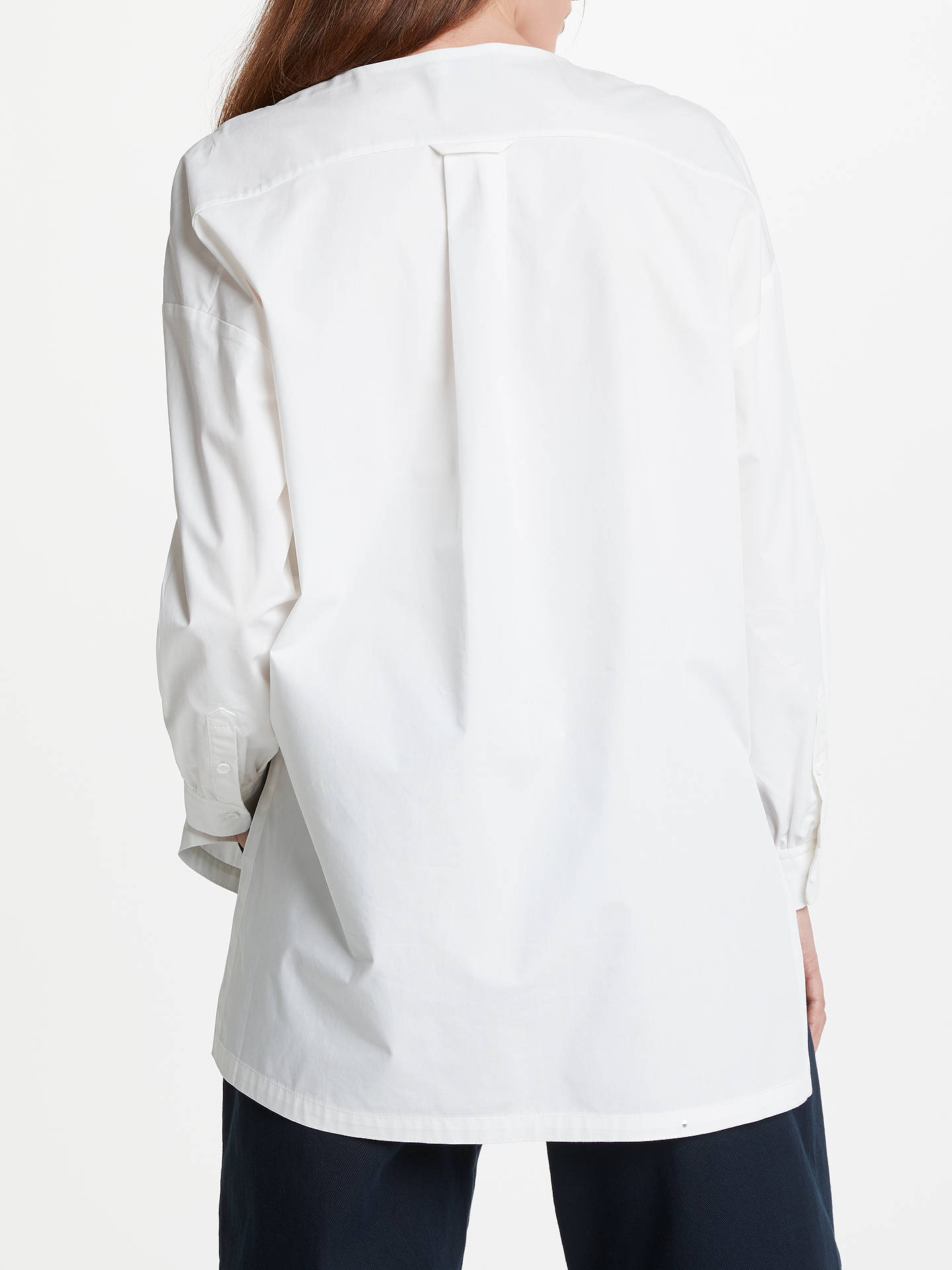 BuyKin Bib Front Shirt, White, 14 Online at johnlewis.com