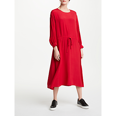 Kin by John Lewis Drop Waist Dress, Red