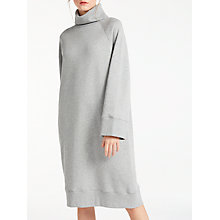 Buy Kin by John Lewis Oversized Roll Neck Dress, Grey Online at johnlewis.com