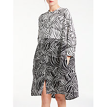 Buy Kin by John Lewis Linear Print Dress, Black Online at johnlewis.com