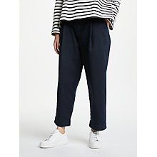 Buy Kin by John Lewis Cinch Back Relaxed Peg Chinos, Navy Online at johnlewis.com