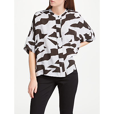 Kin by John Lewis Block Print Oversized Top, Multi