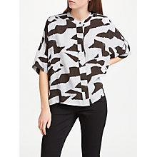 Buy Kin by John Lewis Denim Block Print Oversized Top, Multi Online at johnlewis.com
