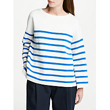Buy Kin by John Lewis Milano Cotton Boat Neck Jumper, White Online at johnlewis.com