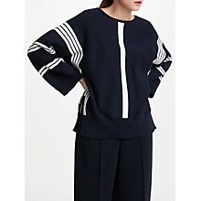 Buy Kin by John Lewis Vertical Stripe Dolman Knit Jumper, Navy Online at johnlewis.com