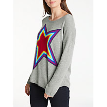 Buy Wyse London Ziggy Rainbow Star Cashmere Jumper, Grey Online at johnlewis.com