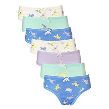 Buy John Lewis Girls' Unicorn Print Briefs, Pack of 7, Blue Online at johnlewis.com