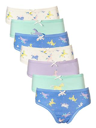 Unicorn gifts gifts john lewis john lewis girls unicorn print briefs pack of 7 blue stopboris Image collections
