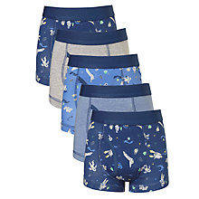 Buy John Lewis Boys' Space Trunks, Pack of 5, Multi Online at johnlewis.com