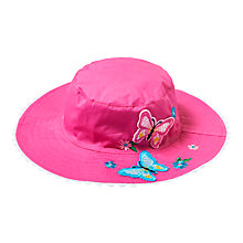Buy John Lewis Children's Butterfly Bucket Hat, Pink Online at johnlewis.com