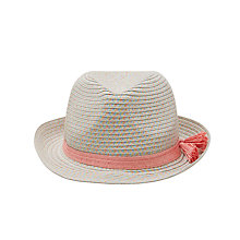 Buy John Lewis Children's Pastel Straw Trilby Hat with Tassel, Multi Online at johnlewis.com