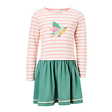 Buy John Lewis Girls' Bird Jersey Long Sleeve Dress, Pink Online at johnlewis.com