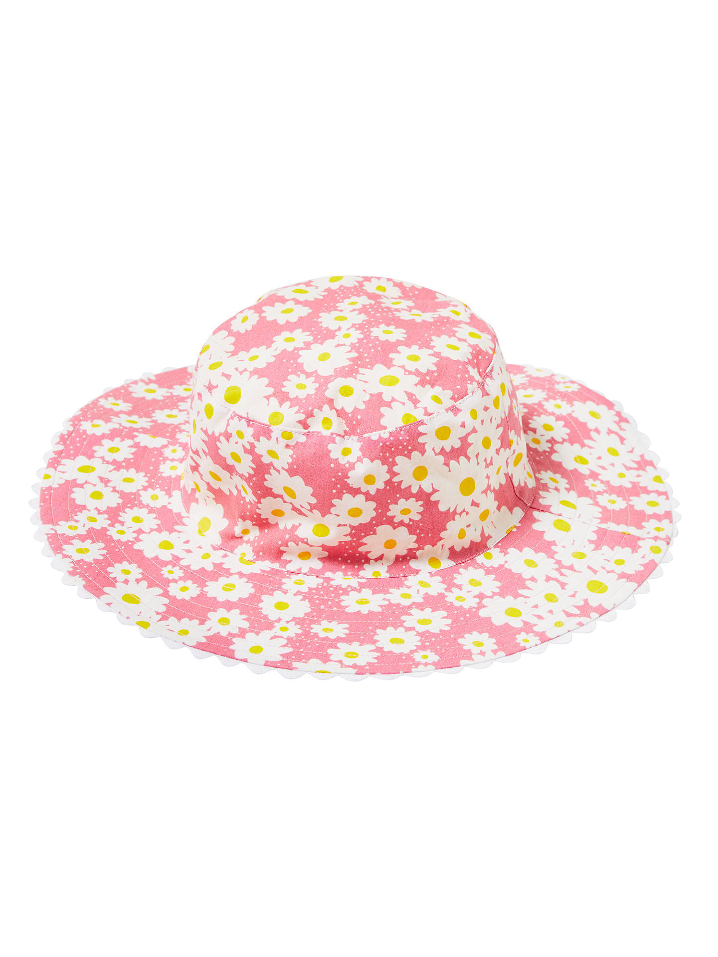 16e3cc63b465fc Buy John Lewis Children's Reversible Daisy Bucket Hat, Pink, S Online at  johnlewis.
