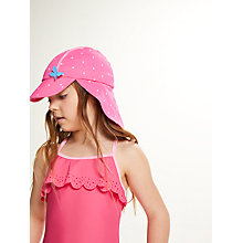 Buy John Lewis Children's Spot Print Keppi Sun Hat, Pink Online at johnlewis.com