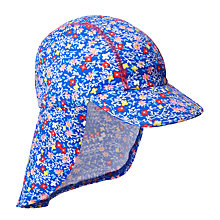 Buy John Lewis Children's Micro Floral Keppi Sun Hat, Blue Online at johnlewis.com