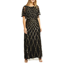 Buy Studio 8 Bella Maxi Dress, Black/Gold Online at johnlewis.com