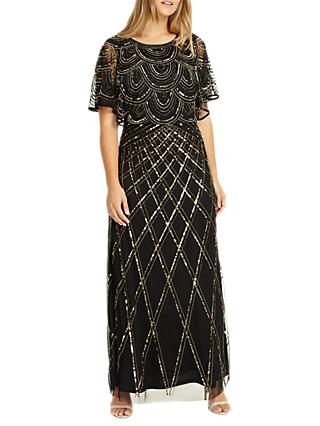 Studio 8 Bella Maxi Dress, Black/Gold