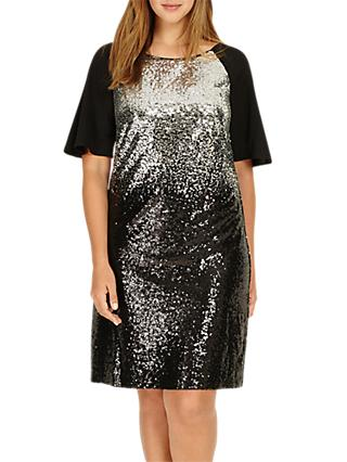 Studio 8 Halle Sequin Embellished Dress, Black/Silver