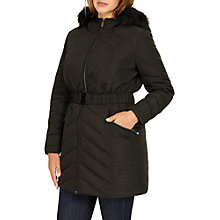 Buy Studio 8 Jamie Long Sleeve Puffer Coat, Black Online at johnlewis.com