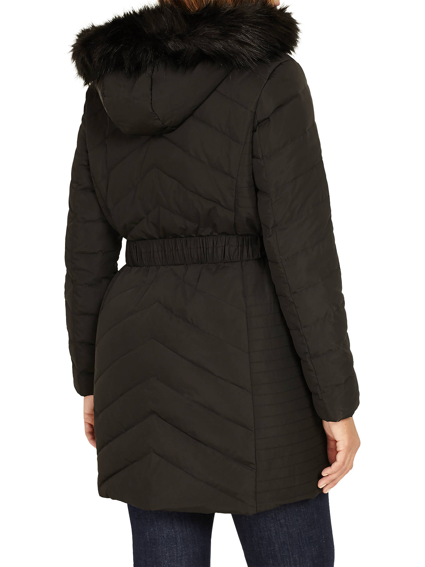 BuyStudio 8 Jamie Long Sleeve Puffer Coat, Black, 16 Online at johnlewis.com