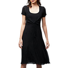 Buy East Pleat Front Tie Dress, Black Online at johnlewis.com