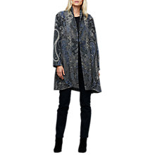 Buy East Camille Embroidered Blanket Coat, Black Online at johnlewis.com