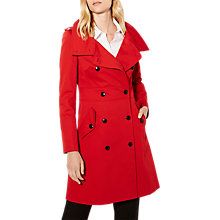 Buy Karen Millen Classic Trench Coat, Red Online at johnlewis.com