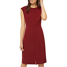 Buy Jaeger Structured Shift Dress, Bordeaux Online at johnlewis.com