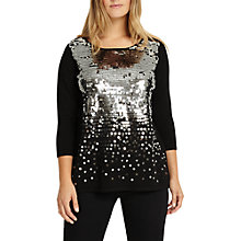 Buy Studio 8 Eden Embellished Sequin Jumper, Black/Silver Online at johnlewis.com