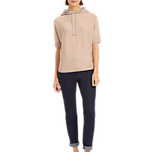 Buy Jaeger Pure Wool Hooded T-Shirt, Dusty Pink Online at johnlewis.com