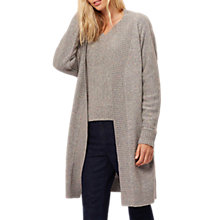 Buy Jaeger Donegal Wool Blend Longline Cardigan, Grey Online at johnlewis.com
