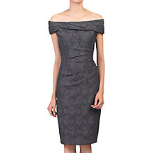 Buy Jolie Moi Bardot Neck Lace Occasion Dress, Dark Grey Online at johnlewis.com
