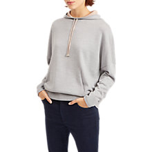Buy Jaeger Pure Wool Hooded Jumper, Light Grey Online at johnlewis.com