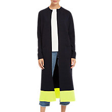 Buy Jaeger Pure Wool Mixed Gauge Long Cardigan, Midnight Online at johnlewis.com